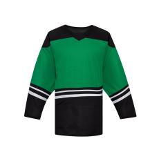 H500-101 Green/Black Blank hockey Designer Jerseys