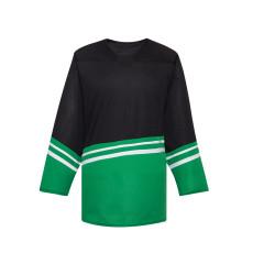 H500-001 Black/Green Blank hockey Designer Jerseys