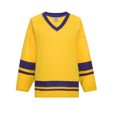 H400-257 Maize/Royal Blank hockey League Jerseys