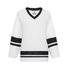 H400-222 White/Black Blank hockey League Jerseys