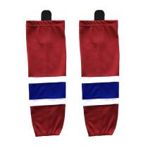 HS100-XW001 Red Blank  hockey  Practice socks(Pair)