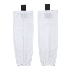 HS80-XW001 White Blank  hockey  Practice socks(Pair)