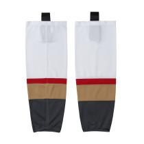 HS100-XW060 White Blank  hockey  Team socks(Pair)