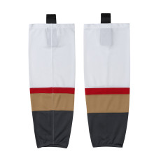HS100-XW060 White Blank  hockey  Team socks(Pair)