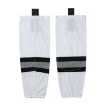 HS100-XW042 White Blank  hockey  Team socks(Pair)