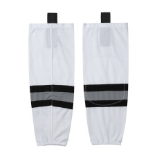 HS100-XW042 White Blank  hockey  Team socks(Pair)