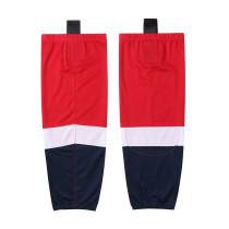 HS100-XW064 Red Blank  hockey  Team socks(Pair)