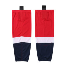 HS100-XW064 Red Blank  hockey  Team socks(Pair)