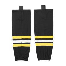 HS100-XW014 Black Blank  hockey  Team socks(Pair)
