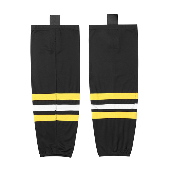 HS100-XW014 Black Blank  hockey  Team socks(Pair)