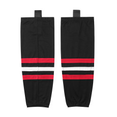HS100-XW019 Black Blank  hockey  Team socks(Pair)