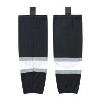 HS100-XW012 Black Blank  hockey  Team socks(Pair)