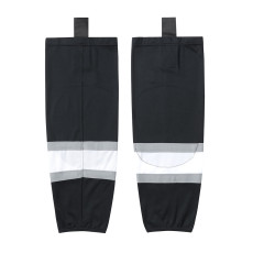 HS100-XW012 Black Blank  hockey  Team socks(Pair)