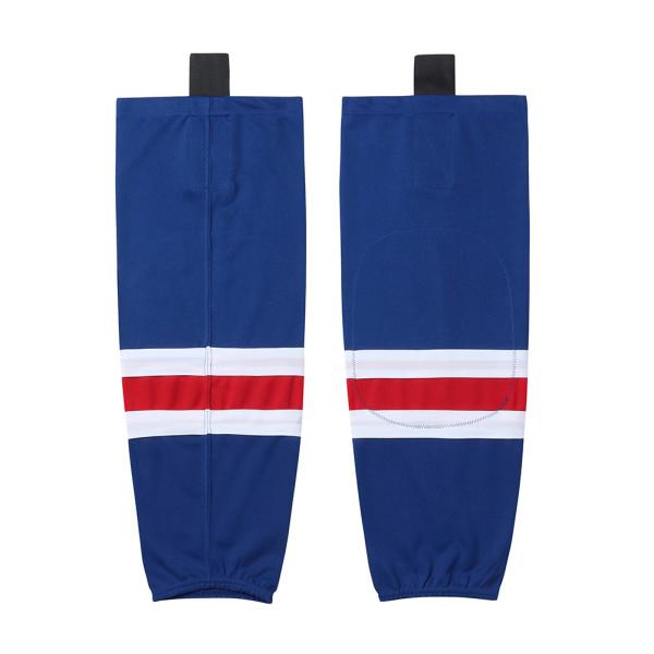 HS100-XW021 Blue Blank  hockey  Team socks(Pair)