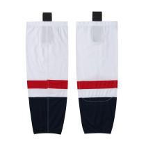 HS100-XW065 White Blank  hockey  Team socks(Pair)