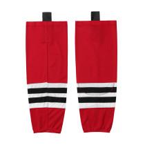 HS100-XW003 Red Blank  hockey  Team socks(Pair)