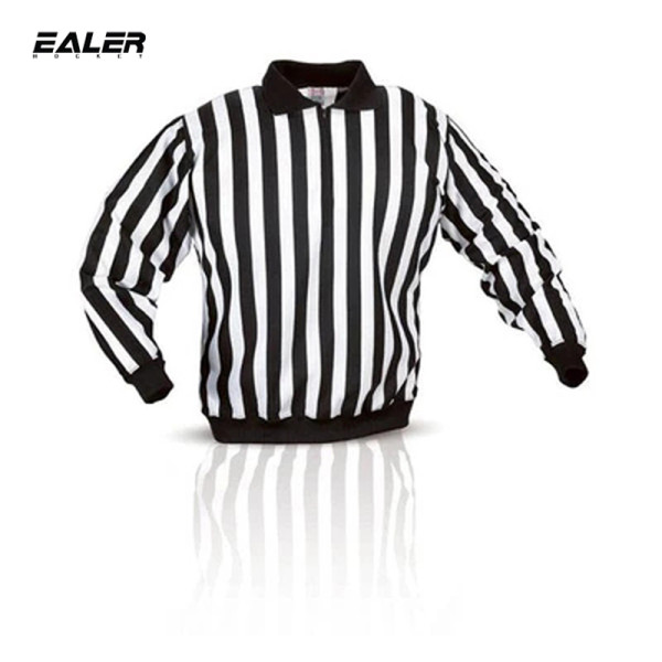 HR100 Ice Hockey Long Sleeve Striped Referee/Umpire Jersey Shirt for Men