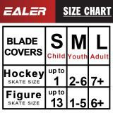 BDT100 Ice Skate Blade Covers,Guards for Hockey Skates,Figure Skates and Ice Skates,Skating Soakers Cover Blades for Kids Youth and Adult - Men Women Boys Girls