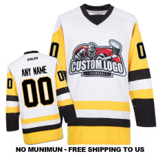 EC-E081 Custom Your Hockey Jerseys (Any Logo Any Number Any Name) White
