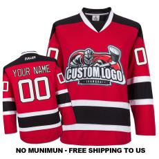 EC-E071 Custom Your Hockey Jerseys (Any Logo Any Number Any Name) Red