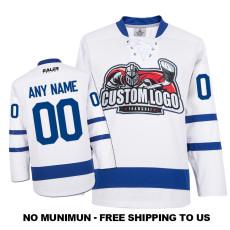 EC-E025 Custom Your Hockey Jerseys (Any Logo Any Number Any Name) White