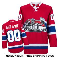 EC-E067 Custom Your Hockey Jerseys (Any Logo Any Number Any Name) Red