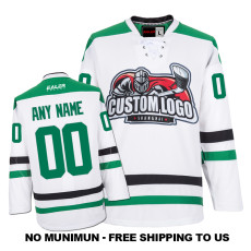 EC-E018 Custom Your Hockey Jerseys (Any Logo Any Number Any Name) White