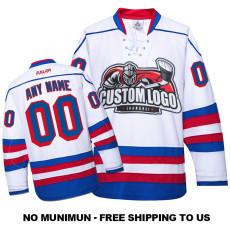 EC-E035 Custom Your Hockey Jerseys (Any Logo Any Number Any Name) White
