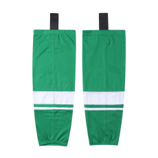 HS400-XW072Green Blank  hockey  Team socks(Pair)