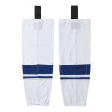 HS400-XW070White Blank  hockey  Team socks(Pair)