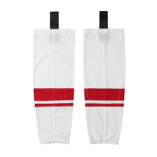 HS400-XW068 White Blank  hockey  Team socks(Pair)
