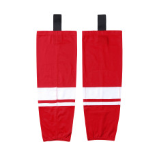 HS400-XW067 Red Blank  hockey  Team socks(Pair)