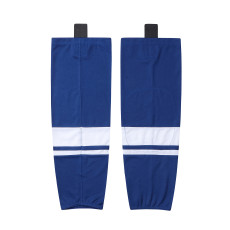 HS400-XW069 Blue Blank  hockey  Team socks(Pair)