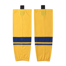 HS400-XW073Yellow Blank  hockey  Team socks(Pair)
