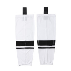 HS400-XW066 White Blank  hockey  Team socks(Pair)