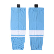 HS400-XW074Blue Blank  hockey  Team socks(Pair)