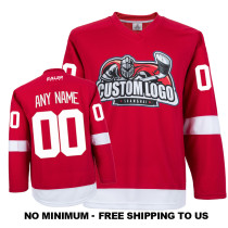 EC-E007 Custom Your Hockey Jerseys (Any Logo Any Number Any Name) Red