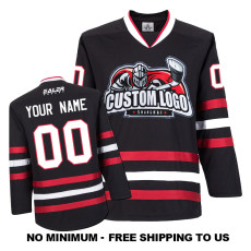 EC-E031 Custom Your Hockey Jerseys (Any Logo Any Number Any Name) Black
