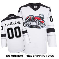 EC-E063 Custom Your Hockey Jerseys (Any Logo Any Number Any Name) White