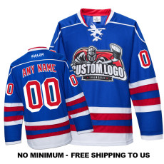 EC-E036 Custom Your Hockey Jerseys (Any Logo Any Number Any Name) Blue