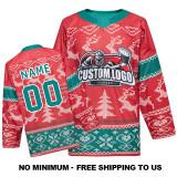 EC-2020CM001 Custom Your Hockey Jerseys (Any Logo Any Number Any Name) Red