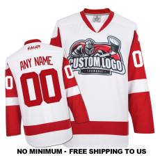 EC-E008 Custom Your Hockey Jerseys (Any Logo Any Number Any Name) White