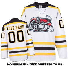 EC-E057 Custom Your Hockey Jerseys (Any Logo Any Number Any Name) White