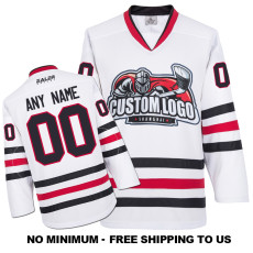 EC-E009 Custom Your Hockey Jerseys (Any Logo Any Number Any Name) White