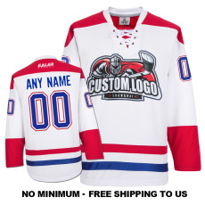 EC-E064 Custom Your Hockey Jerseys (Any Logo Any Number Any Name) White