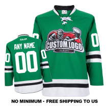 EC-E019 Custom Your Hockey Jerseys (Any Logo Any Number Any Name) Green