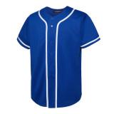 EALER BJ80 Series Mens Baseball Jersey Button Down Shirts Short Sleeve Hipster Hip Hop Sports Uniforms
