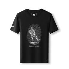 EALER EST200 Series Men's Classic Hockey Logo Short Sleeve Tee Shirt & 100% Cotton Crew Neck Adult Tops