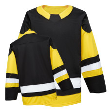 H900-EF005 Black Blank  hockey  Practice Jerseys