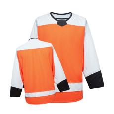 H900-EF094 Orange Blank  hockey  Practice Jerseys